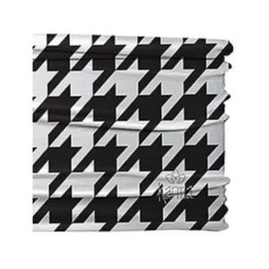 KARMA Black White Houndstooth Stretch Headband NWT